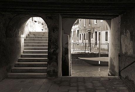 G36 Venice Sotoportego in Sepia