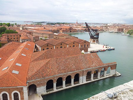 View over the Venice Arsenale
